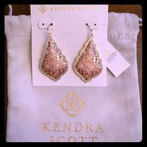 NWT Gold Addie Earrings In Rose Gold Filigree